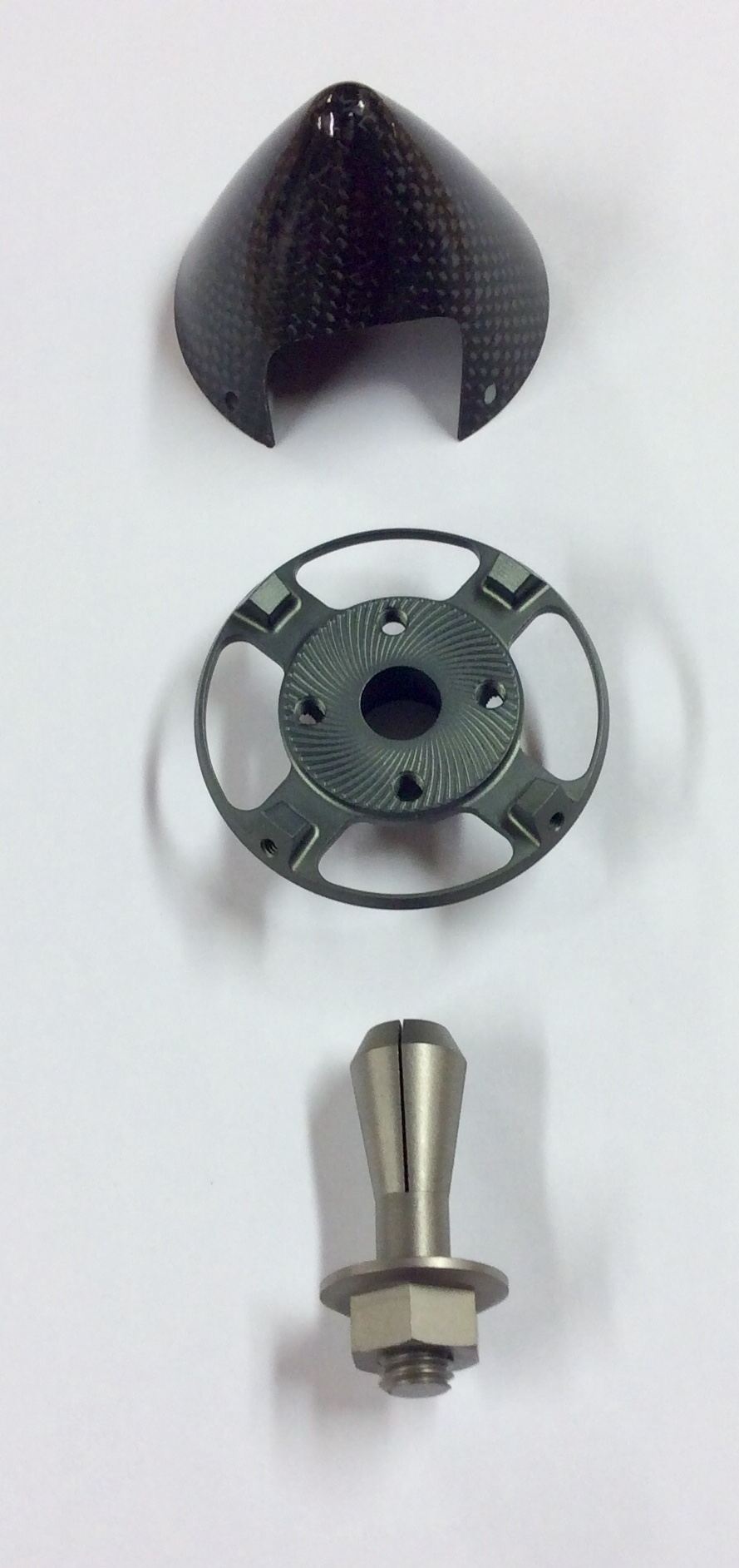 Carbon Black Metallic: Falcon 89mm CRS Spinner Set